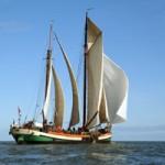 zeilschip met volle zeilen